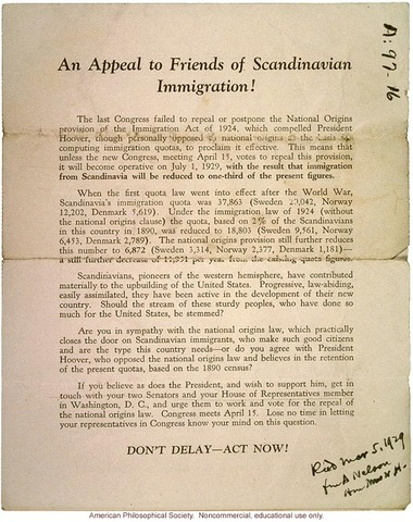 Immigration Act of 1924 Passed
