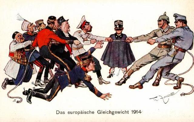 Reino Unido se une a los aliados de la Entente tras la invasión de Bélgica