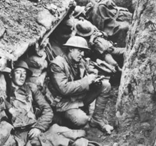Guerra de posiciones o trincheras. 1915-1917. 2ª etapa I GM