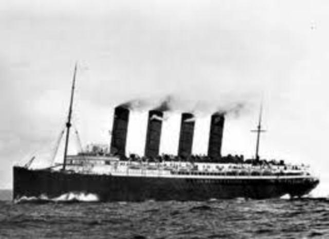 Submarinos alemanes hundieron trasatlántico Lusitania
