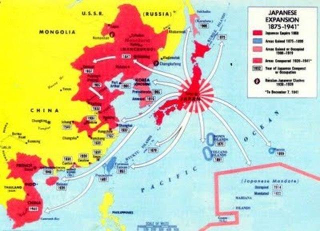 Japón invade China