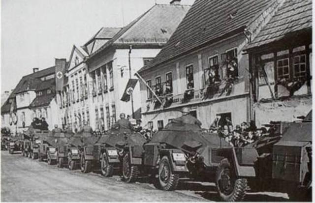 Los alemanes ocupan los Sudetes