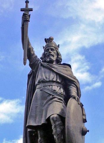 Alfred le Grand avance les Danois en Angleterre
