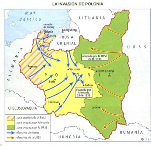La URSS se anexiona la zona oriental de Polonia