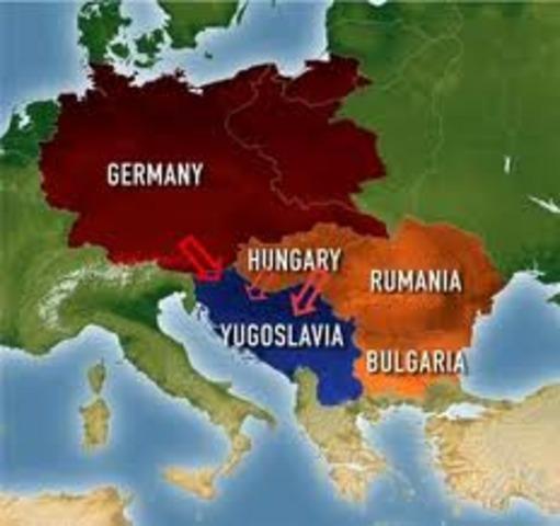Los regímenes dictatoriales se aliaron con Alemania.