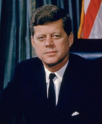 John F. Kennedy sworn into office