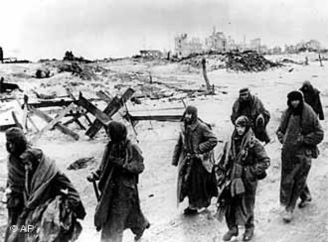 Derrota alemana en la batalla de Stalingrado.