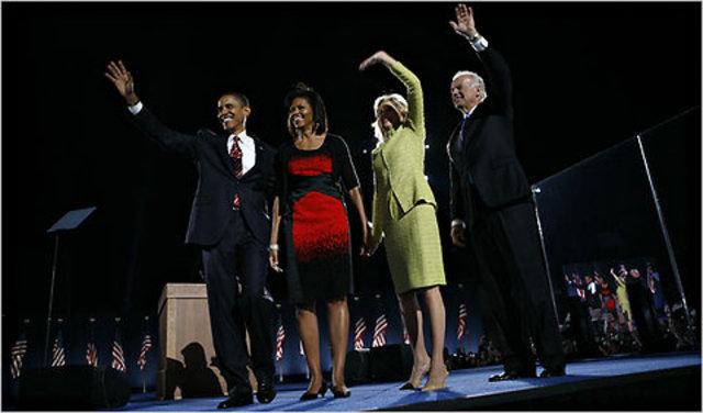 Barak Obama gets elected