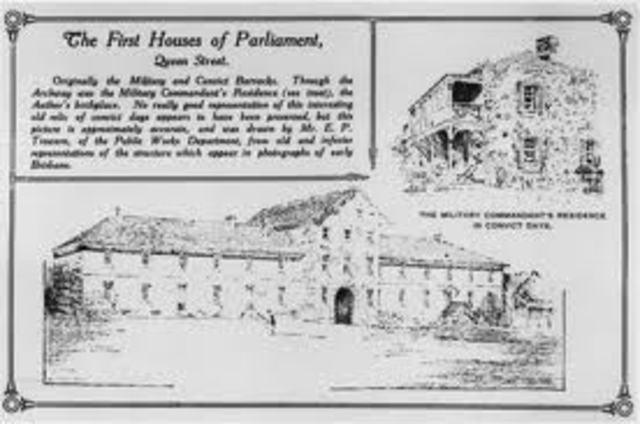 Establisment of Redcilff penal colony