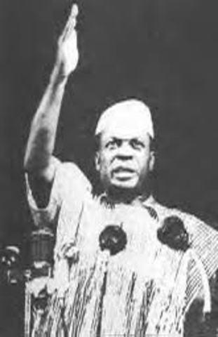 Ghana wins independence