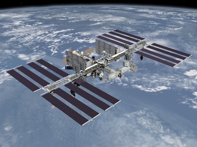International space station launched