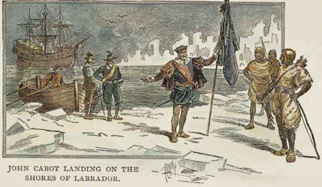 John Cabot rend au Nouveau Territoire