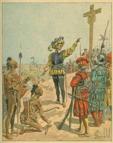 Jacques Cartier voyage vers le Nouveau Territoire