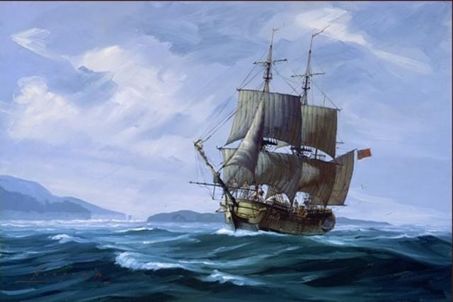 Captain George Vancouver commence un voyage