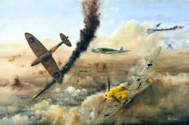 Ataque aéreo británico sobre Berlín con bombas estadounidenses.