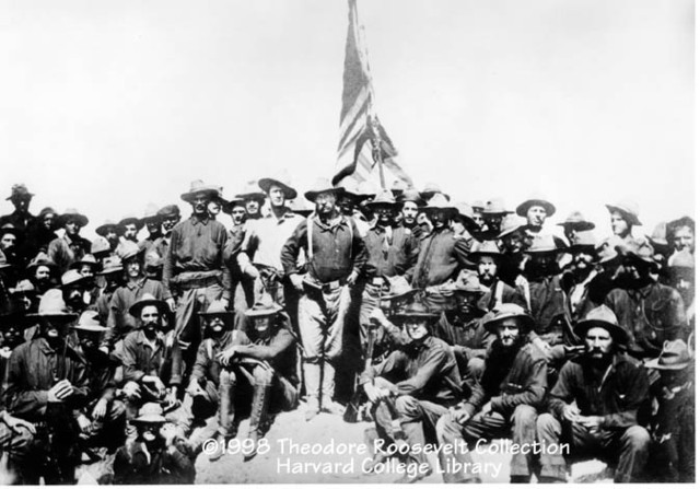 TR and rough riders charege san juan hill