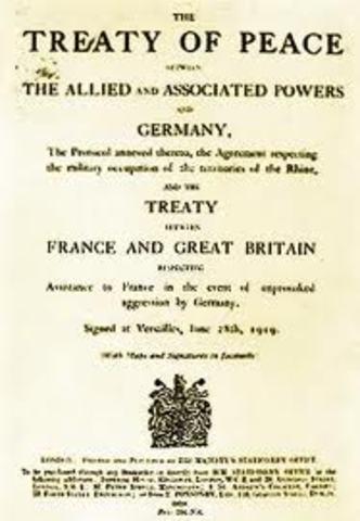 Entrada en vigor del Tratado de Versalles