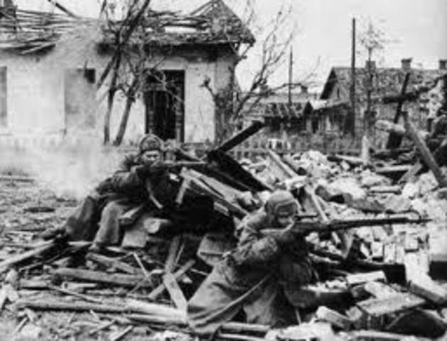 Batalla en Stalingrado.