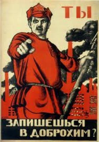 Los bolcheviques ganan a los blancos