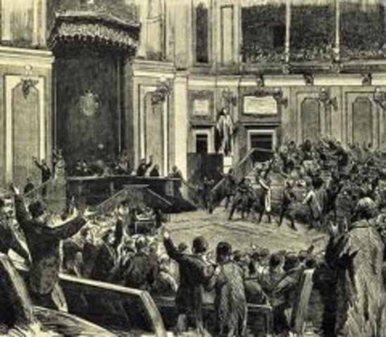 Proclamación de la República y expatriación del rey