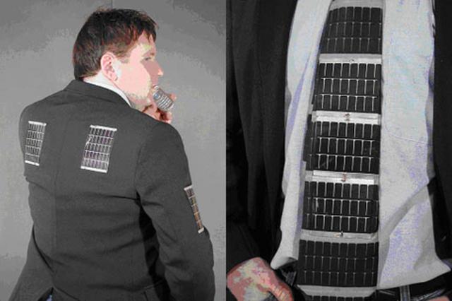 Ropa con energía solar
