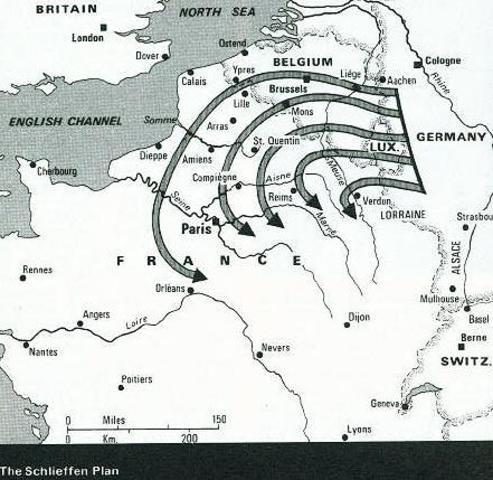 El II Reich invade Bélgica y Luxemburgo.