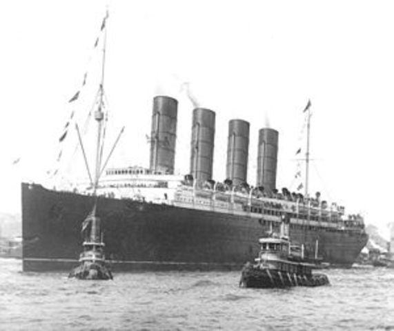 Hundimiento del Lusitania.