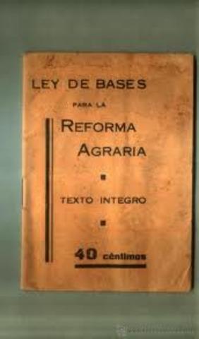 Ley de Bases para la reforma agraria