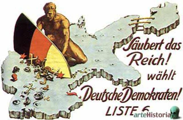Comienzo de la nueva Constitución de la República de Weimar.