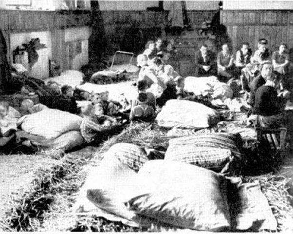 Los alemanes ocupan los Sudetes (Chequia)
