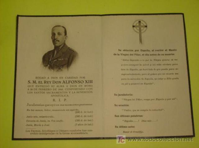 Muerte de Alfonso XIII