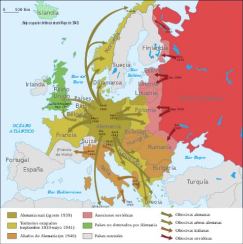 Anexión de Austria y ocupación de los Sudetes