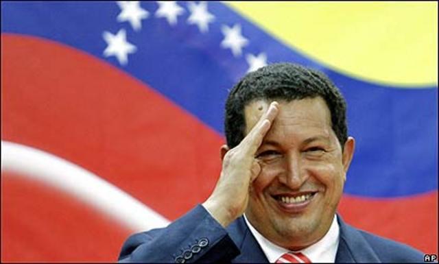 Hugo Chavez al frente del regimen socialista venezolano.