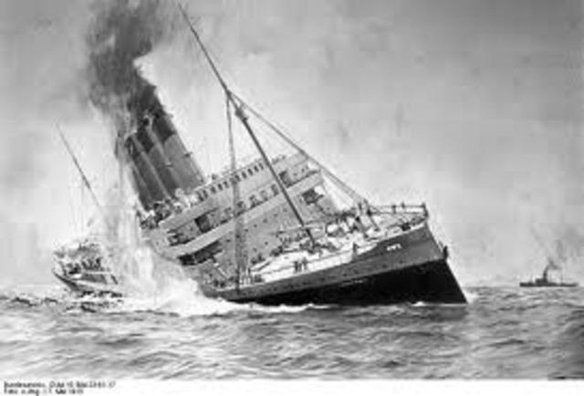 Los Alemanes hunen el trasatlántico Lusitania