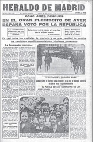 elecciones municipales del domingo 12 de abril de 1931