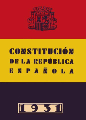 Aprobación por las Cortes de la Constitución de la República Española de 1931.