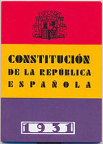 Aprobación de la Constitución de 1931.
