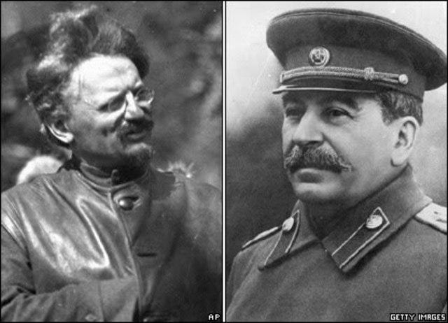Enfrentacion de trotski y stalin