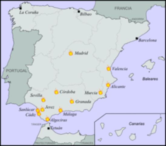 Táctica revolucionaria en Valencia y Andalucía