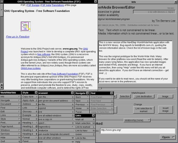 Web browser by Sir Tim Berners-Lee