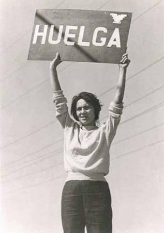 Huerta helps to organize the Second Grape Strike
