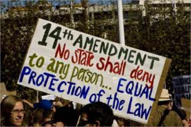 14th amendment was passed as law.