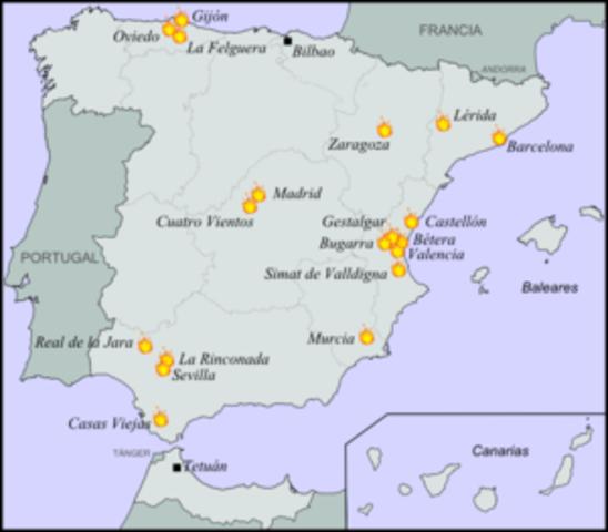 Táctica revolucionaria en Valencia y Andalucía.
