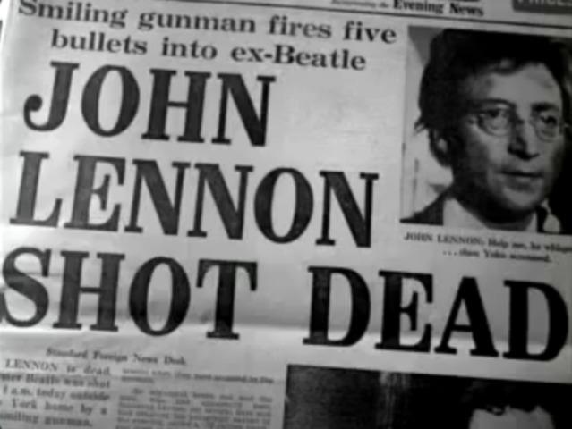 John Lennon is killed