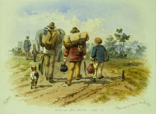 Prospectors started arriving from overseas