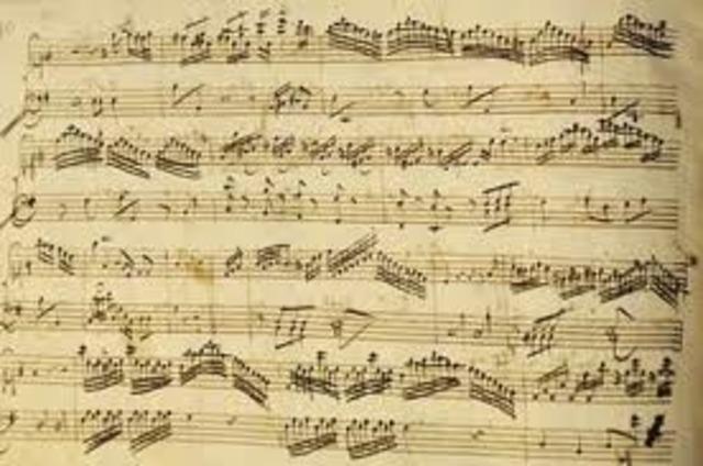 Sus obras desde 1782 a 1788