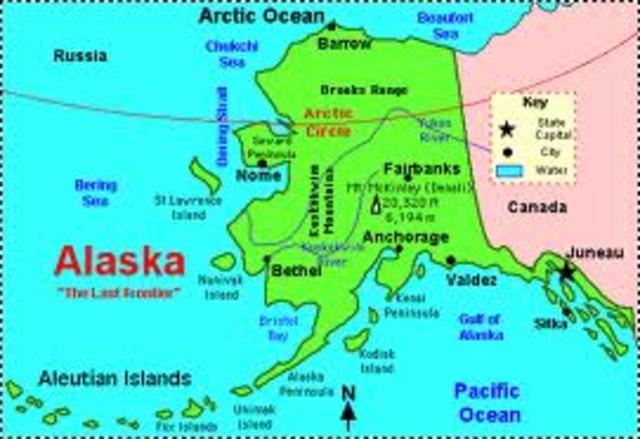 Gold discovered in Alaska