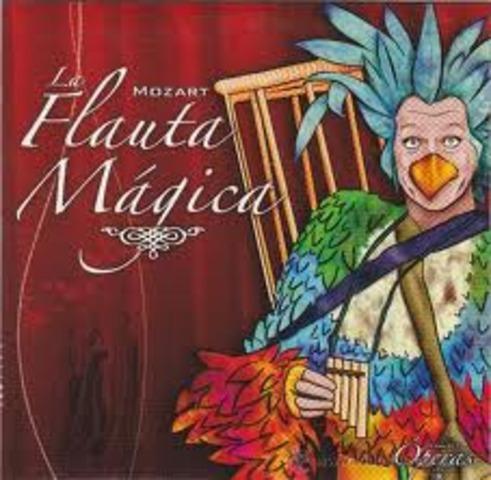Mozart compone la flauta mágica.