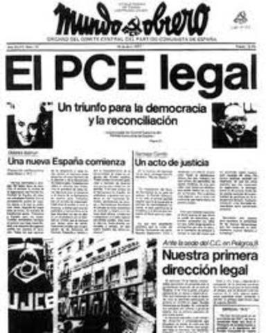 Aparece el primer numero de Mundo Obrero, órgano oficial del PCE.