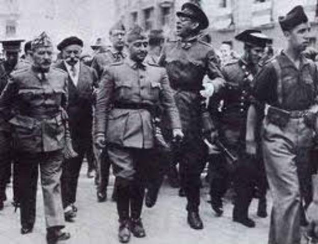 """Franco declara el estado de guerra al tiempo que difunde el llamado """"Manifiesto de Las Palmas""""."""